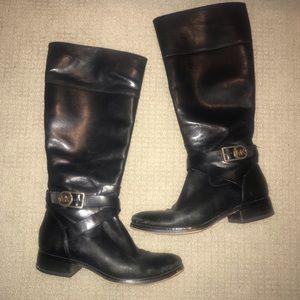Michael Kors black riding boots